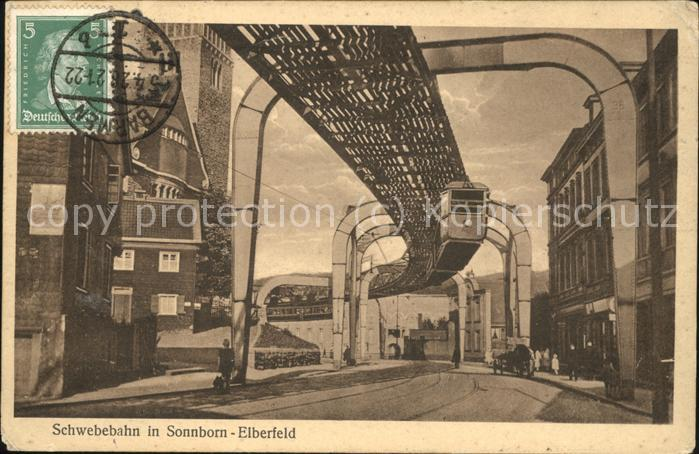 Sonnborn Elberfeld Schwebebahn Kat. Wuppertal