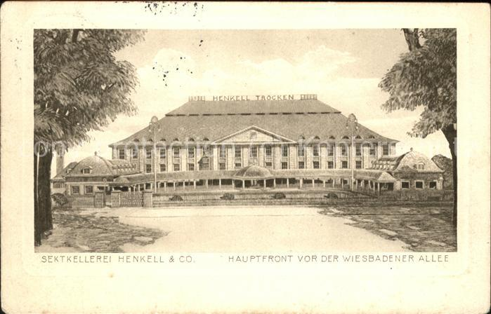 Wiesbaden Sektkellerei Henkell Wiesbadener Allee Kat. Wiesbaden