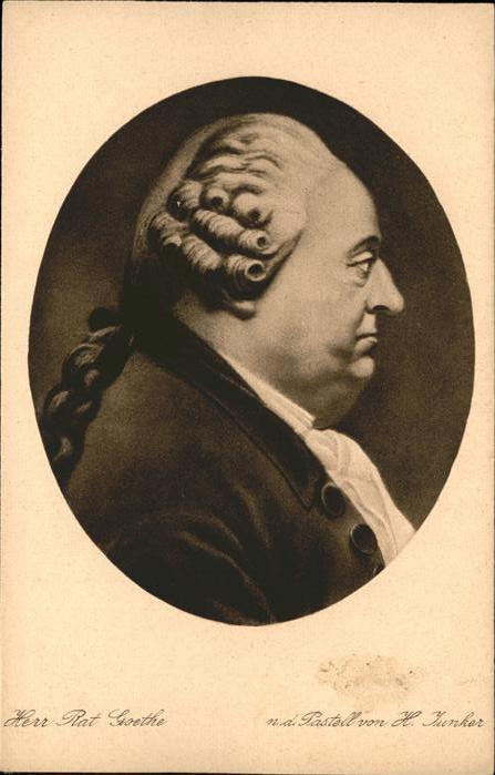 Goethe Johann Wolfgang von Herr Rat Goethe Kuenstler H. Junker Frankfurt Goethemuseum / Dichter /