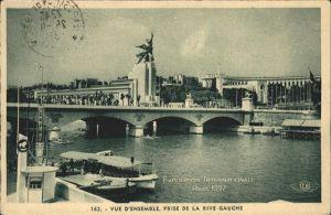 Exposition Internationale Paris 1937 Vue d Ensemble Prise de la Rive Gauche Kat. Expositions