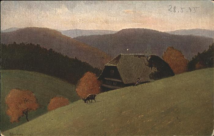 Harbers E. Nr. 376 Schwarzwaldhaus  Kat. Schwarzwaldkuenstler