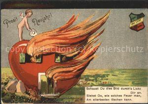11518837 Neujahr Engel Flammendes Herz Greetings Neujahr