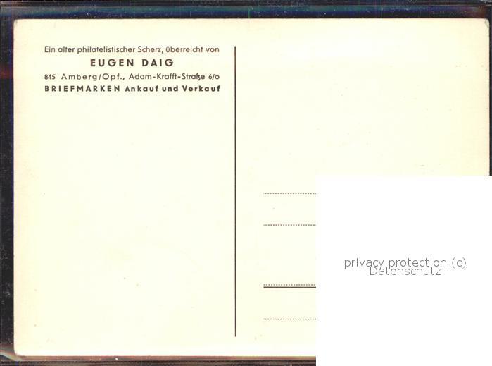 Humor philatelistischer Scherz Eugen Daig / Humor / 1