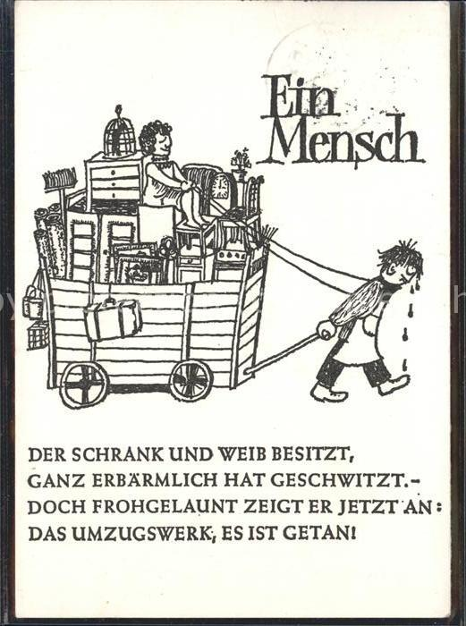 Humor Ein Mensch Umzug Humor Nr Hd08683 Oldthing