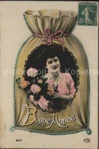 Weihnachten Bonne Anne Rosen Frau Geldsack / Greetings /
