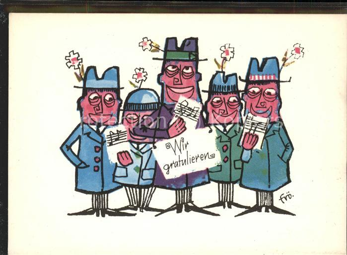 Geburtstag Kuenstlerkarte Wir Gratulieren Comic Greetings Nr