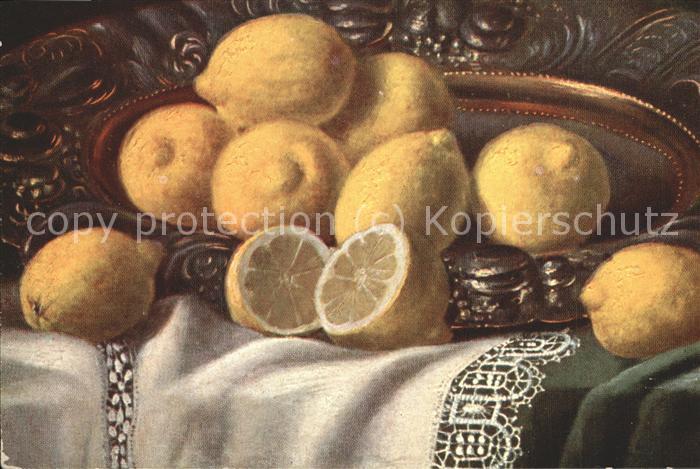 Obst Zitronen Kuenstlerkarte Kat. Lebensmittel