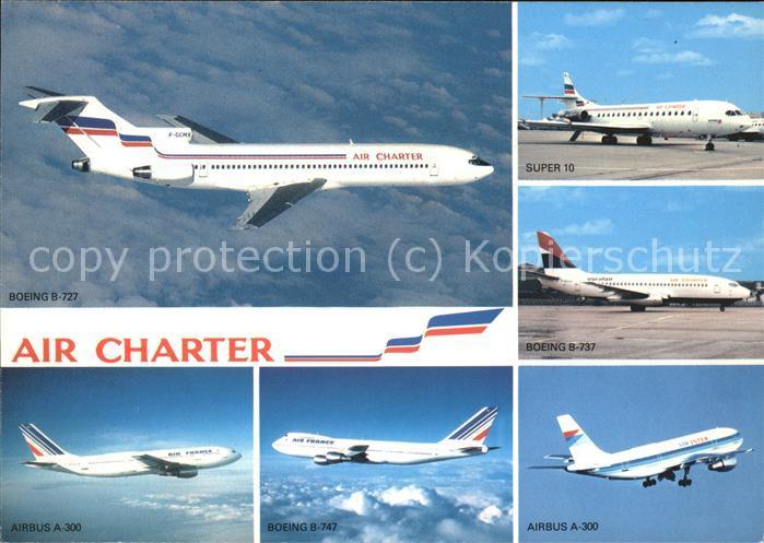 Flugzeuge Zivil Air Charter Air France Air Inter  Kat. Flug