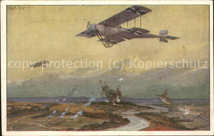 Flugzeuge WK1 Doppeldecker Hans Rudolf Schulze Luftflotte  Kat. Militaerflug