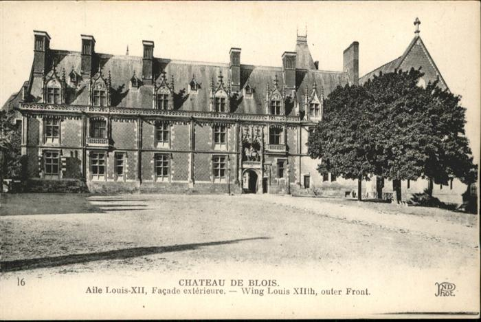 wb05161 Blois Loir et Cher Blois Chateau de Blois * Kategorie. Blois Alte Ansichtskarten