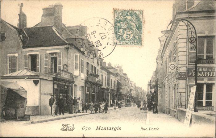 wx37617 Montargis Loiret Montargis Rue Doree x Kategorie. Montargis Alte Ansichtskarten