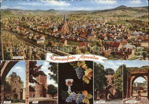 Bad Neuenahr Ahrweiler Totalansicht Obertor Ahrtor Niedertor Adenbachtor Kat. Bad Neuenahr Ahrweiler
