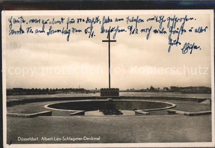 Duesseldorf Albert-Leo-Schlageter-Denkmal / Duesseldorf /Duesseldorf Stadtkreis
