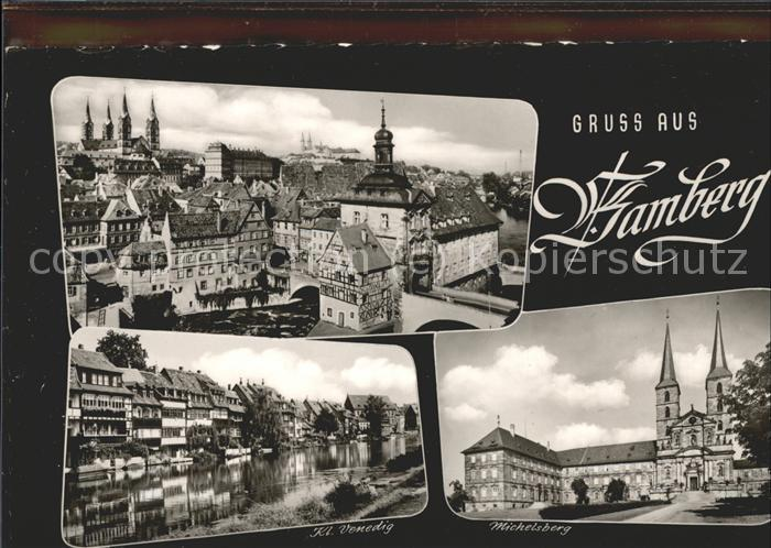 Bamberg Michelsberg Ausblick auf Bamberg  Kat. Bamberg