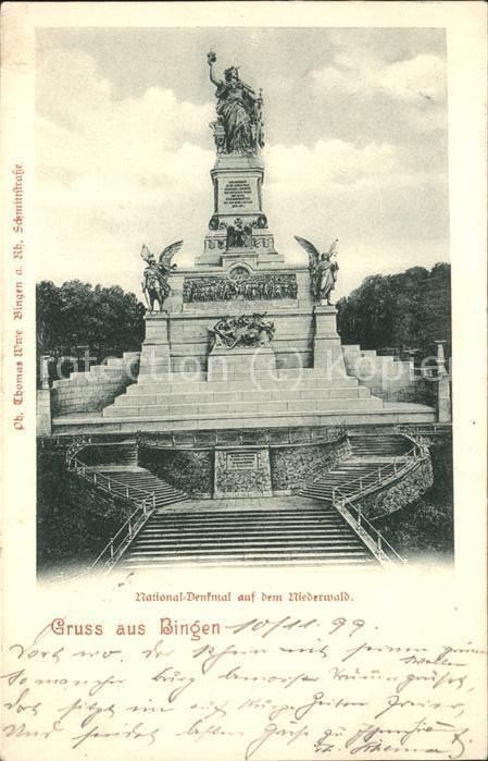 Bingen Rhein Nationaldenkmal auf dem Niederwald Kat. Bingen am Rhein