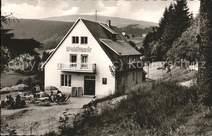 Warmensteinach Pension Waldbaude Kat. Warmensteinach Fichtelgebirge