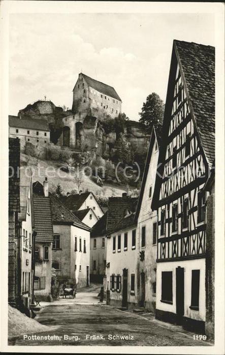 Pottenstein Oberfranken Dorfpartie Burg / Pottenstein /Bayreuth LKR