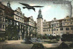 Merseburg Schlosshof Kanonen Rabe Kat. Merseburg