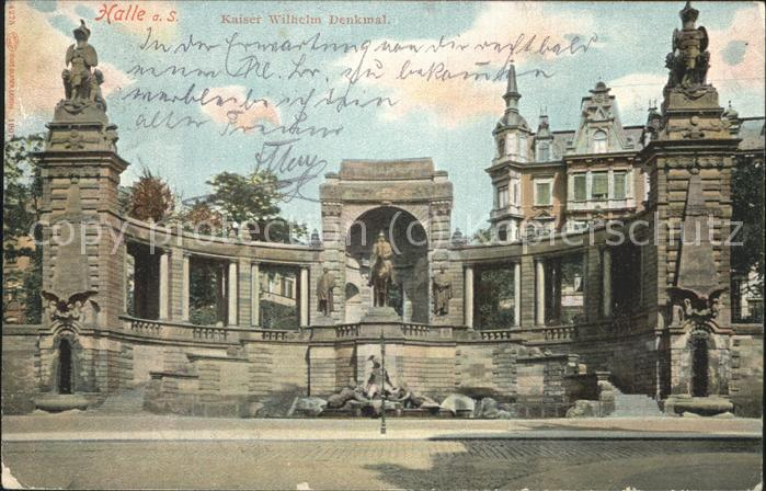 Halle Saale Kaiser Wilhelm Denkmal Kat. Halle