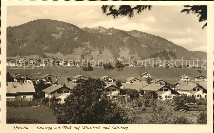 Kreuzegg mit Blick auf Weissbach und Edelsberg Kat. Pfronten