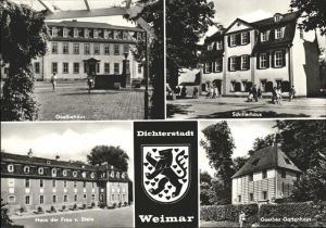 Weimar Thueringen Goethe und Schiller Haus Goethes Gartenhaus Haus der Frau von Stein Dichterstadt Wappen / Weimar /Weimar Stadtkreis