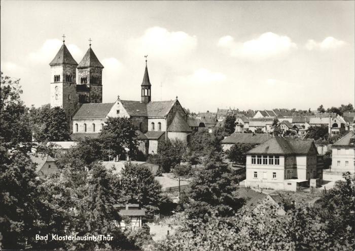 Bad Klosterlausnitz mit Klosterkirche Kat. Bad Klosterlausnitz