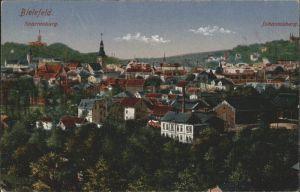 Bielefeld Totalansicht mit Sparrenburg und Johannisberg Kat. Bielefeld