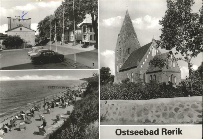 Rerik Ostseebad Kurhaus Strand Kirche  Kat. Ostseebad Rerik