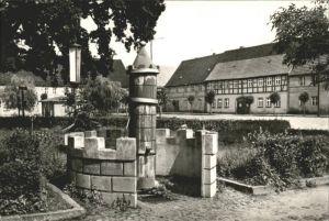 Uebigau Elster Marktplatz mit Brunnen Kat. Uebigau Wahrenbrueck