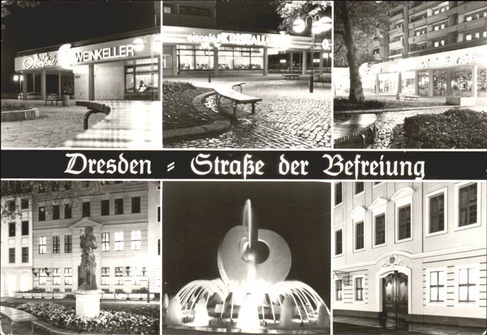 Dresden Strasse der Befreiung Impressionen Kat. Dresden
