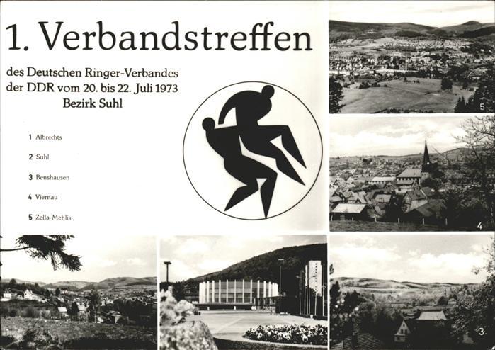 Suhl Thueringer Wald 1. Verbandstreffen Deutscher Ringerverband der DDR Bezirk Suhl Kat. Suhl