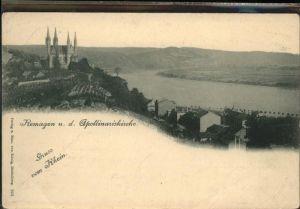 Remagen Panorama mit Apollinariskirche Kat. Remagen
