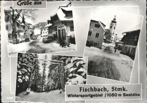 Fischbach Steiermark Ansichten im Schnee Kat. Fischbach