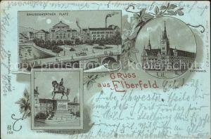 Elberfeld Wuppertal Neues Rathaus Brausenwerther-Platz Kaiser Wilhelm-Denkmal / Wuppertal /Wuppertal Stadtkreis