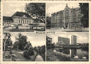 Hamm Westfalen Kurhaus Bahnhof Kurpark Oberlandesgericht Kat. Hamm