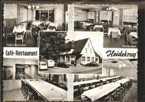 Augustdorf Cafe Restaurant Heidekrug Kegelbahn Weinstube Kat. Augustdorf