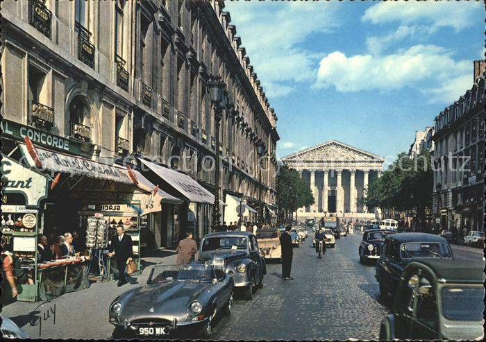 Paris la rue Royale eglise de la Madeleine / Paris /Arrond. de Paris