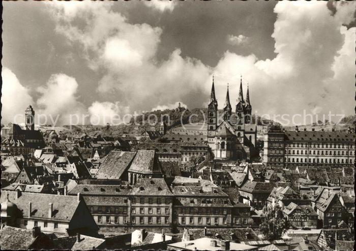 Bamberg Blick auf die Altstadt und Dom Kat. Bamberg