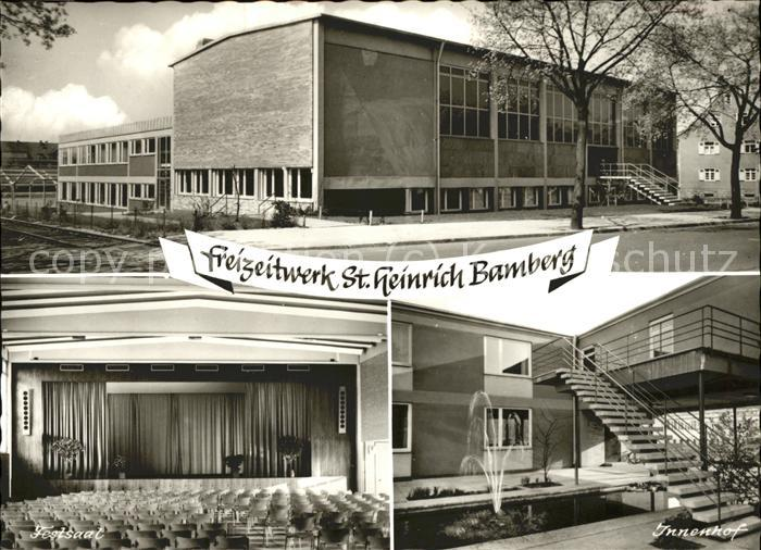 Bamberg Freizeitwerk St. Heinrich Innenhof Festsaal Kat. Bamberg