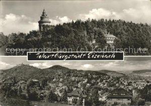 Eisenach Thueringen Burschenschaftsdenkmal Panorama Kat. Eisenach