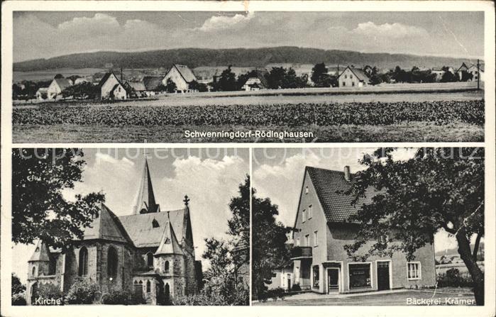 Roedinghausen Panorama Kirche Baeckerei Kraemer / Roedinghausen /Herford LKR