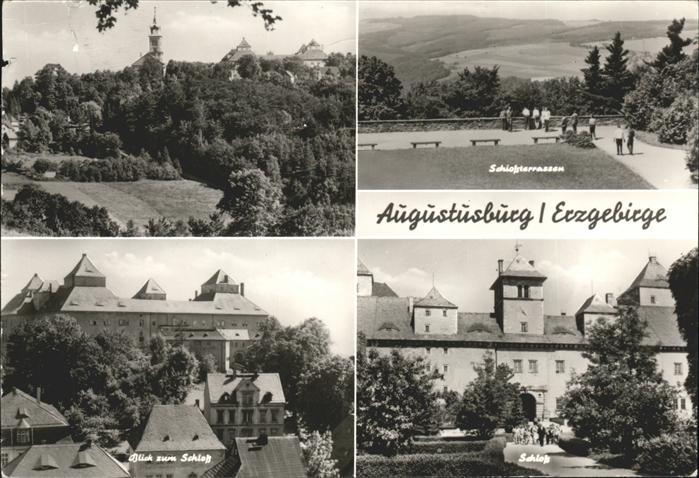Augustusburg Schloss Terrassen Erzgebirge Kat. Augustusburg