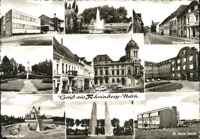 Rheinberg Underberg Bad St. Anna Schule Fischmarkt Kat. Rheinberg