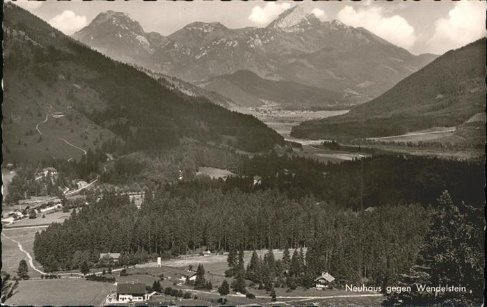 Neuhaus Schliersee Panorama mit Wendelstein Bayerische Alpen Kat. Schliersee
