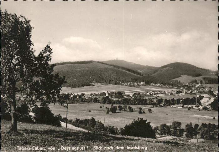Cabarz von Deysingslust Blick zum Inselsberg Kat. Tabarz Thueringer Wald