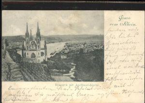 Remagen Rheinpanorama mit Apollinariskirche Kat. Remagen