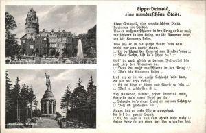 Detmold Lippe wunderschoene Stadt Spruch Kat. Detmold