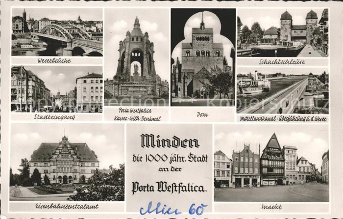 Minden Westfalen Porta Westfalica Markt Mittelandkanal
