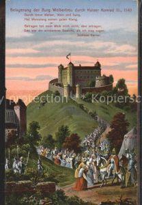 Weinsberg Burg Weibertreu Kaiser Konrad III. / Weinsberg /Heilbronn LKR