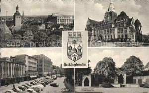 Recklinghausen Westfalen Teilansicht Rathaus Markt Ehrenmal Kat. Recklinghausen